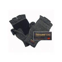 Перчатки-варежки Badger вязаные с утеплителем Thinsulate Ultra (тёмно-серые)