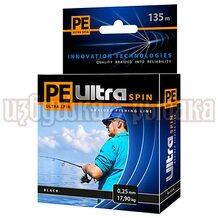 Шнур PE Ultra Spin Black 135м 0.25мм 17.9кг