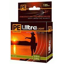 Шнур PE Ultra Light Olive 135м 0.10мм 5.2кг