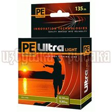 Шнур PE Ultra Light Olive 135м 0.14мм 9.9кг