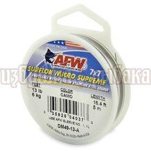 Поводочный материал AFW Surflon Micro Suprime 7*7 5м 0.33мм 6кг цвет Camo