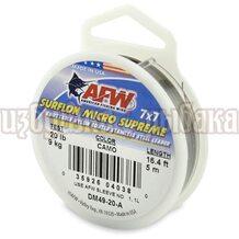 Поводочный материал AFW Surflon Micro Supreme 7*7 5м 0.38мм 9кг цвет Camo