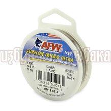 Поводочный материал AFW Surflon Micro Ultra 1*19 5м 0.25мм 3кг цвет Camo