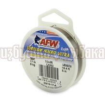 Поводочный материал AFW Surflon Micro Ultra 1*19 5м 0.37мм 8кг цвет Camo