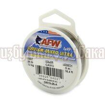 Поводочный материал AFW Surflon Micro Ultra 1*19 5м 0.46мм 12кг цвет Camo