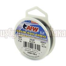 Поводочный материал AFW Surflon Micro Supreme 7*7 5м 0.33мм 6кг цвет Black