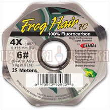 Леска Gamma Frog Hair Fluorocarbon Tippet Material 0.178мм 25м 3.0кг