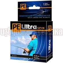 Шнур PE Ultra Spin Black 135м 0.16мм 10.2кг