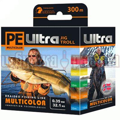 Шнур PE Ultra Multicolor Jig Troll 300м 0.35мм 32.1кг