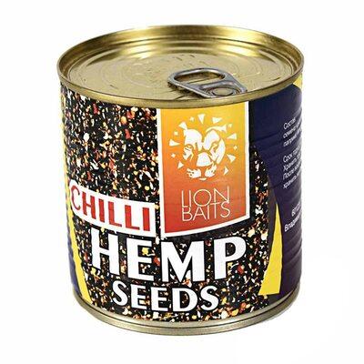 Зерновая смесь Lion Baits Hemp Seeds Chili (Семена конопли) 430 мл