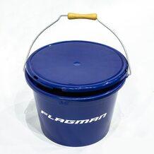 Ведро с крышкой Flagman 13л синее