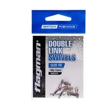 Вертлюг фидерный двойной Flagman Double Link Swivels №10 5 шт.