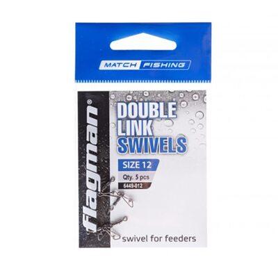 Вертлюг фидерный двойной Flagman Double Link Swivels №12 5 шт.