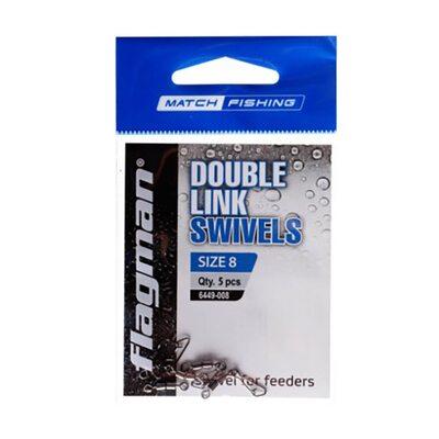 Вертлюг фидерный двойной Flagman Double Link Swivels № 8 5 шт.