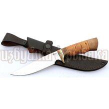 Нож Легионер кованый, сталь 65Х13, береста, литьё