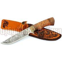 Нож Лорд кованый, сталь 65Х13, береста, литьё, гравировка