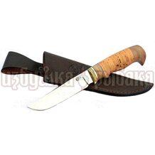 Нож Куница кованый, сталь 65Х13, береста, литьё