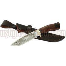 Нож Близнец кованый, 95Х18, венге, литьё, гравировка