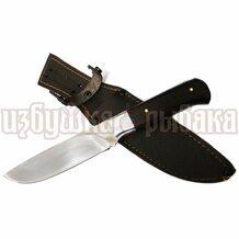 Нож Ирбис кованый, сталь Х12МФ,чёрное дерево