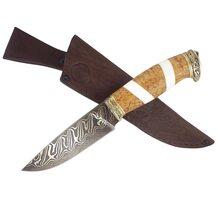 Нож Сокол авторский из торцевого дамаска