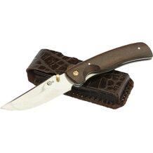 Нож Аляска кованый складной, сталь 95Х18