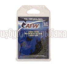 Обжимные трубки AFW Single Barrel Sleeves #3 1.40мм 100шт. цвет Black