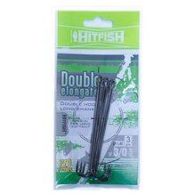 Двойник HitFish Double Elongate+ hook with long shank #3/0 83мм (3 шт.)