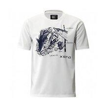 Футболка Shimano Xefo T-Shirts SH-296N белая размер 3XL (EU 2XL)