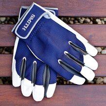 Перчатки Smith из оленьей кожи синие размер L
