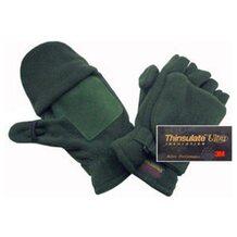 Перчатки-варежки Badger флисовые с утеплителем Thinsulate Ultra (зелёные)