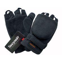 Перчатки-варежки Envision флисовые с утеплителем Thinsulate Platinum (чёрные) (12047NEW)