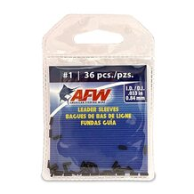 Обжимные трубки AFW Single Barrel Sleeves #1 0.84мм 36шт. цвет Black