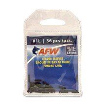 Обжимные трубки AFW Single Barrel Sleeves #1L 0.84мм 36шт. цвет Black
