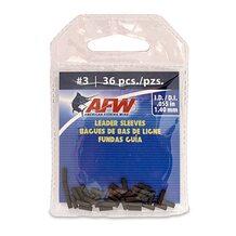 Обжимные трубки AFW Single Barrel Sleeves #3 1.40мм  36шт. цвет Black