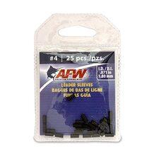 Обжимные трубки AFW Single Barrel Sleeves #4 1.80мм 25шт. цвет Black