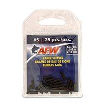 Обжимные трубки AFW Single Barrel Sleeves #5 2.16мм 25шт. цвет Black