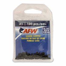 Обжимные трубки AFW Single Barrel Sleeves #1 0.84мм 100шт. цвет Black