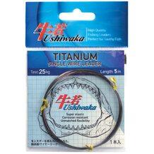 Поводочный материал Ushiwaka Titanium Single Wire 5м 25кг