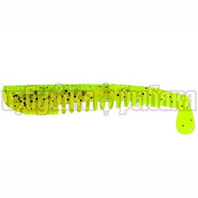 Виброхвост LureMax Yobbo 4'' 100мм цвет 002 Lime Pepper (6шт.)