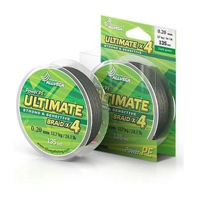 Шнур Allvega Ultimate 135 м тёмно-зелёный 0.20 мм 12.7 кг