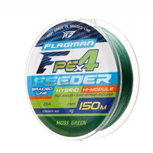 Шнур Flagman PE Hybrid F4 Feeder 150м Moss Green 0.12мм 6.4кг