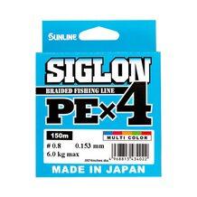 Шнур Sunlline Siglon PEx4 multi color #0.8 (0.153мм) 6.0кг 150м