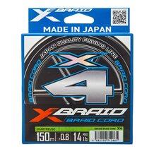 Шнур YGK X-Braid Braid Cord X4 chartreuse #0.8 (0.148мм) 6.3кг 150м