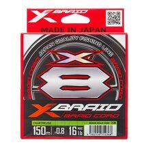 Шнур YGK X-Braid Braid Cord X8 chartreuse #0.8 (0.148мм) 7.2кг 150м